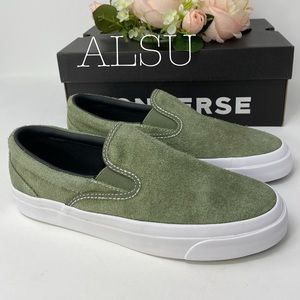 Converse One Star CC Slip Field Green Suede W